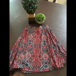 LuLaroe Print Fit and Flare Skirt